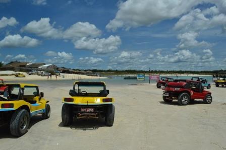Passeio de buggy na Lagoa Azul em Jericoacoara
