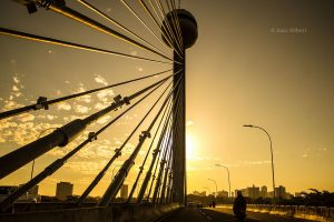 Fim de tarde na Ponte Estaiada de Teresina